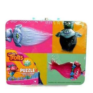 Trolls Puzzle 24 Piece Lunch Box Tin by Cardinal